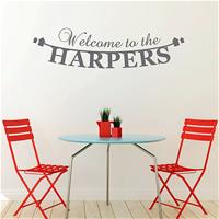 Buy Megan Claire Personalised Welcome to Our Home Wall Sticker   John Lewis