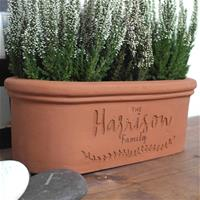 Personalised Terracotta Window Box